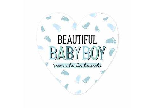 "rozen.nl Card ""Beautiful Baby Boy"""