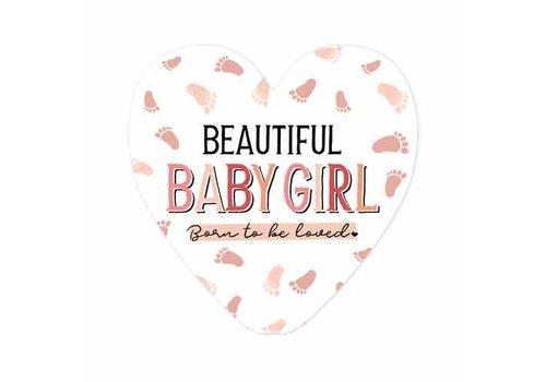 "rozen.nl Card ""Beautiful Baby Girl"""