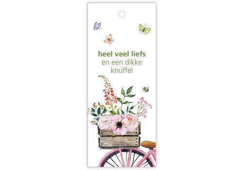 """rozen.nl Kaartje """"Butterfly"""" Heel veel liefs"""