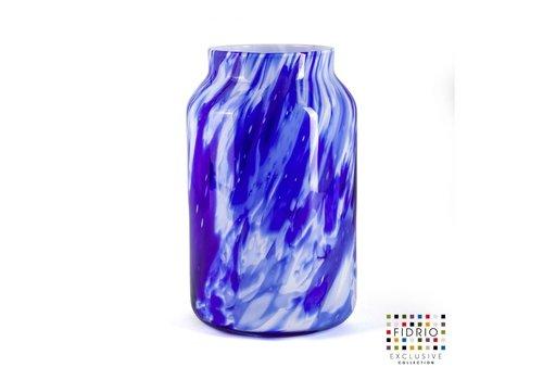"""rozen.nl Vaas """"Bloom""""large H30 Delfts Blue"""