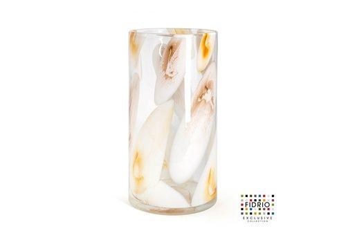 rozen.nl Vaas Cilinder H35 D18 Marrone