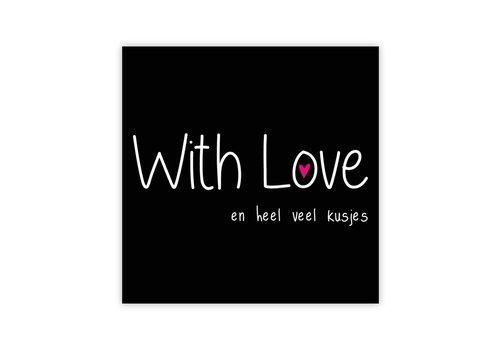 "rozen.nl Karte Cat ""With Love"""