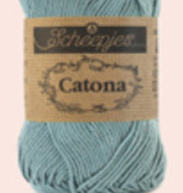 Scheepjes Catona 10 Gramm - 528 Silber Blau - 10 Bälle für