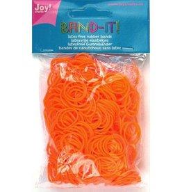Band -it Die Gummibänder 600 Stück. Orange
