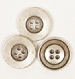 Drops Round Button (Silver) 20mm / 533