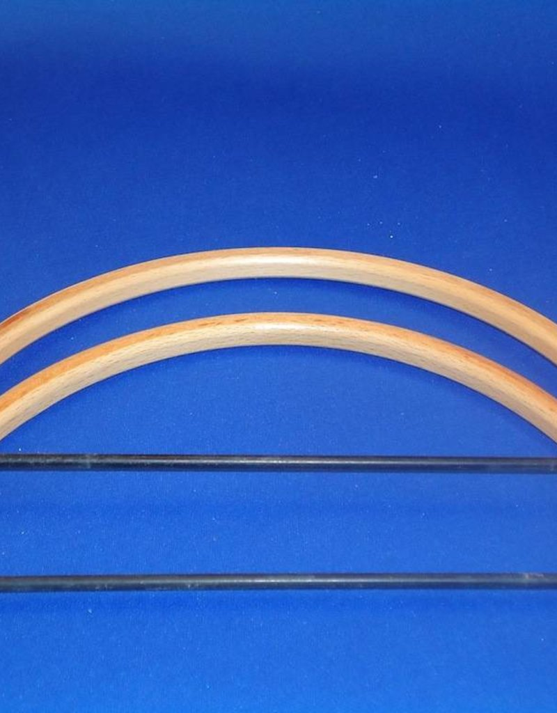 Bag holder half round beech 17,5 cm
