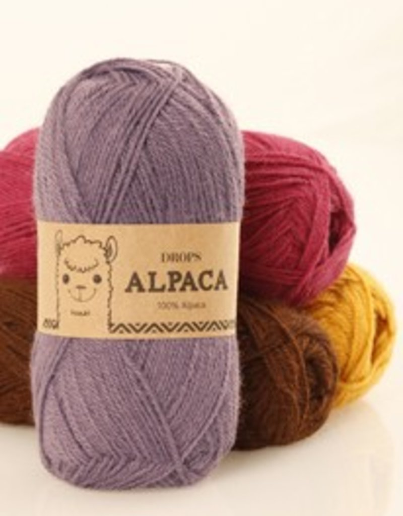 Drops Alpaca Wol & Garen 0607m Lichtbruin