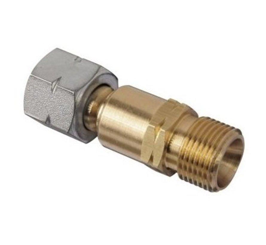 VS120 verdraaibeveiliging voorkomt het verdraaien van gasslangen