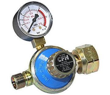 CFH DR115 instelbare drukregelaar 1 - 4 bar met manometer