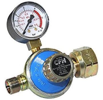 CFH DR115 Détendeur réglable 1 à 4 bar avec manomètre