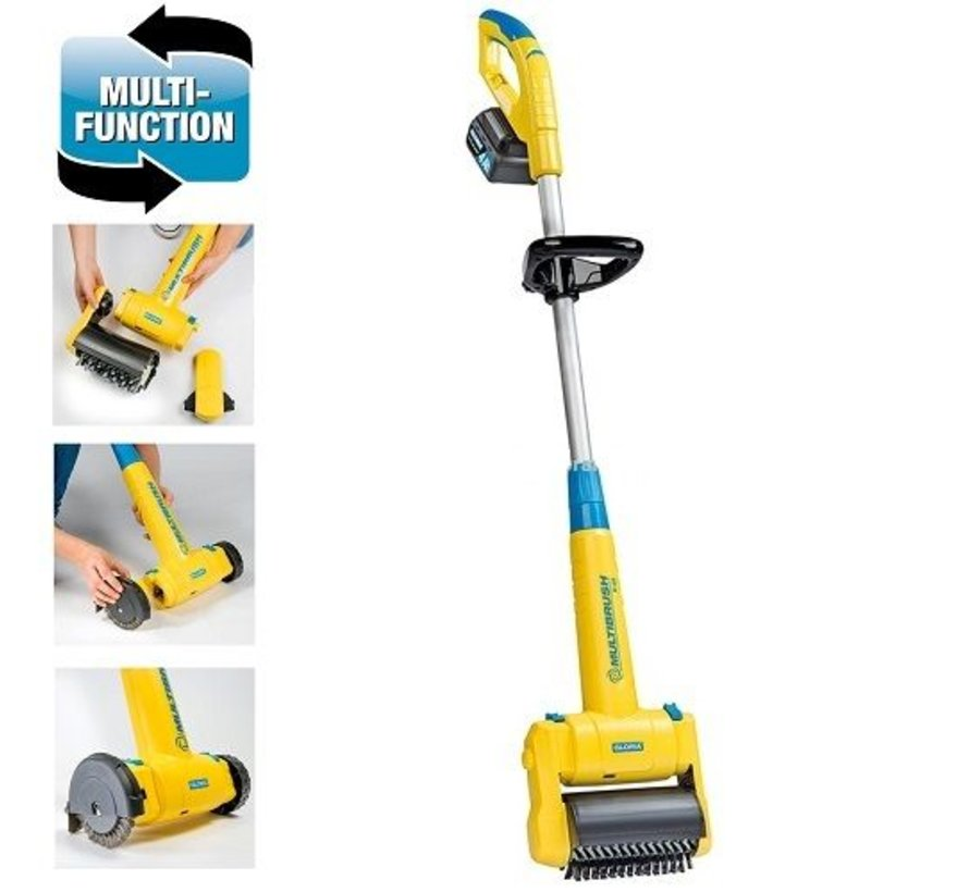 Multibrush Li-on 18V - 4 Ah surface cleaner - grout cleaner and more