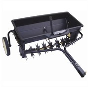 Turfmaster drawn lawn aerator with line spreader - lawn aerator