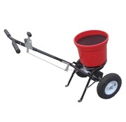 Turfmaster robust spreader for fertilizer - seeds and salt