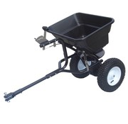 Turfmaster trailed spreader for fertilizer and road salt 36 kg.
