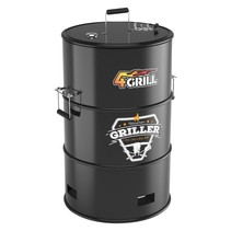 4Grill barrel barbecue with 4 functions (black)