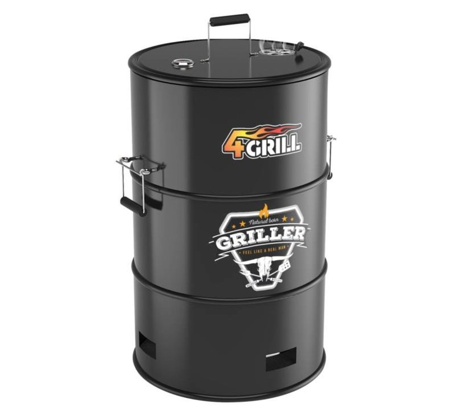 4GRILL 4 in 1 olievat barbecue | Grill | Roken | Haard