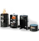 Batavia 4Grill barrel barbecue with 4 functions (black)