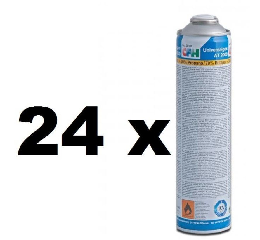 24x Universal gas cylinders, threaded connection, 600 ml