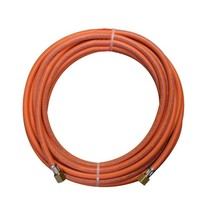 Rubber gas hose with a length of 10 meters including 3/8 couplings