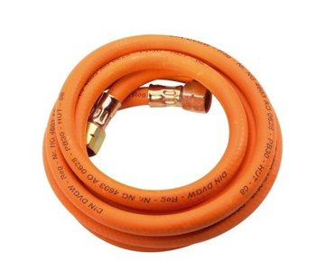 """CFH Gas Connection hose, 3 meter with connection coupling, 3/8"""" thread"""