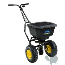 Pushing Spreader - 22 Kg - powder-coated undercarriage - plastic container