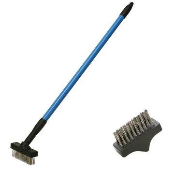 CFH Set de brosse à herbes télescopique Brosse à joints avec 2 brosses