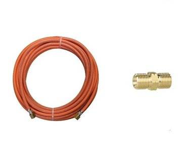"CFH Gas hose extension set, 5 meter gas hose + connector, 3/8"" connections"