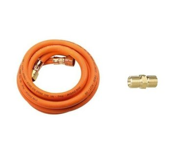 "CFH Gas Connection hose, 3 meter with connection coupling, 3/8"" thread - Copy"