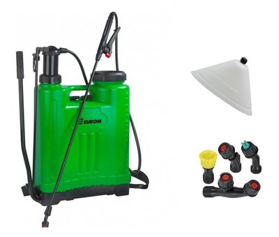 Eurom 1809 Backpack pressure sprayer / weed sprayer, 18 liters