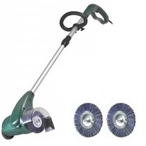 Electric patio weed brush, 400 watts with 2x plastic brushes