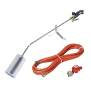 Rothenberger Romaxi weed burner with gas hose and pressure regulator