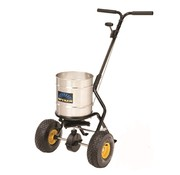 Spyker Push spreader 22 kg powder-coated frame Stainless steel round container