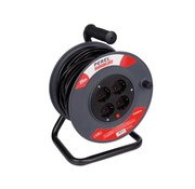 Perel Cable reel 25m, 4 sockets with child protection