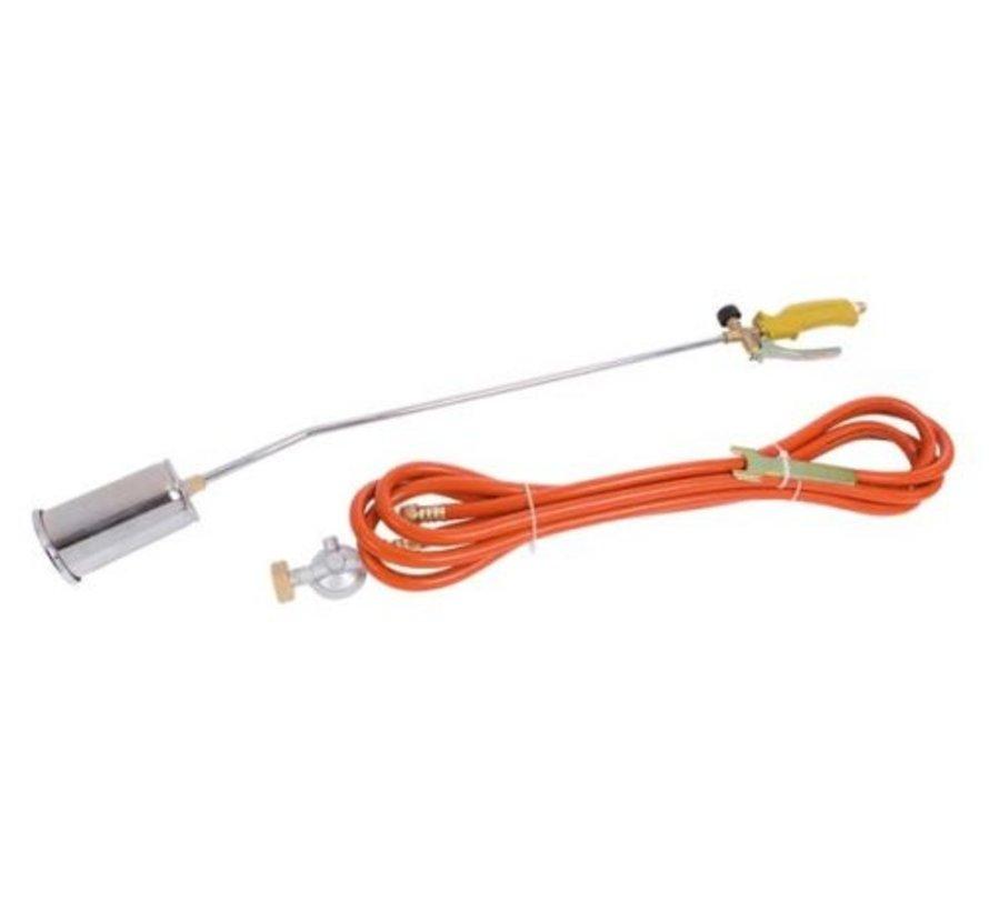 Gas Unkrautbrenner mit 5 Meter Gasschlauch und Druckregler