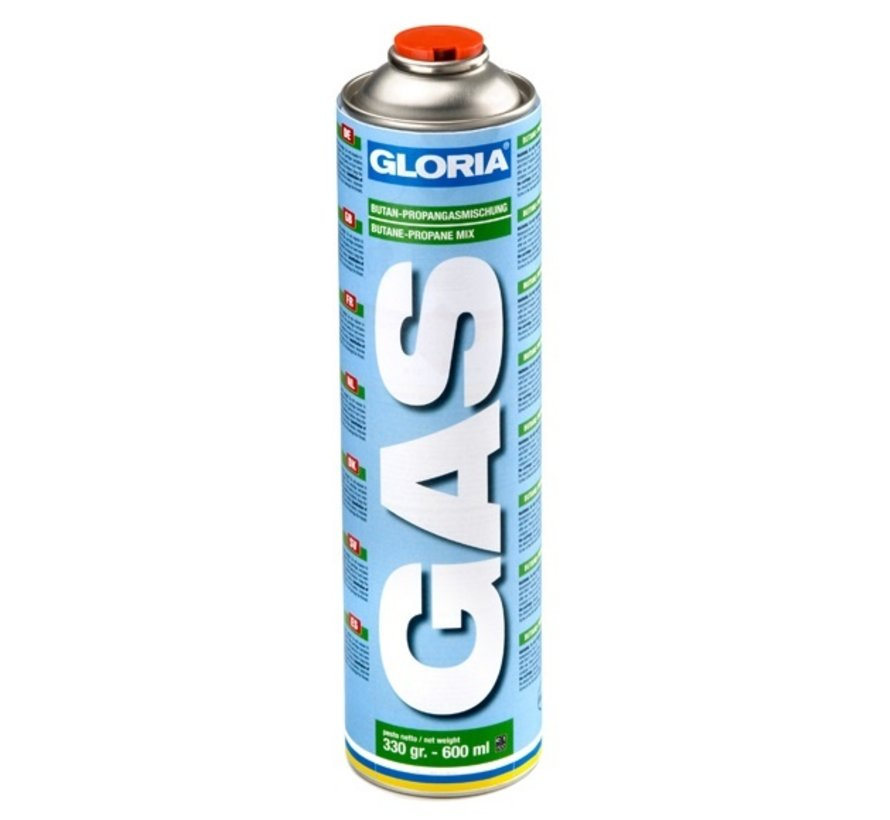 Universal gas cylinder, threaded connection, 600 ml