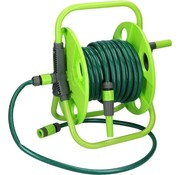 Kinzo Hose reel including 15m garden hose and accessories