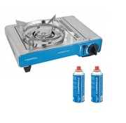 Campingaz Camp'Bistro DLX camping cooking set with two gas bottles