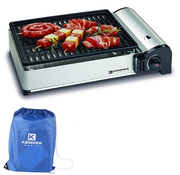 Kemper Portable smart gas barbecue Table barbecue Camping cooker incl carrying bag