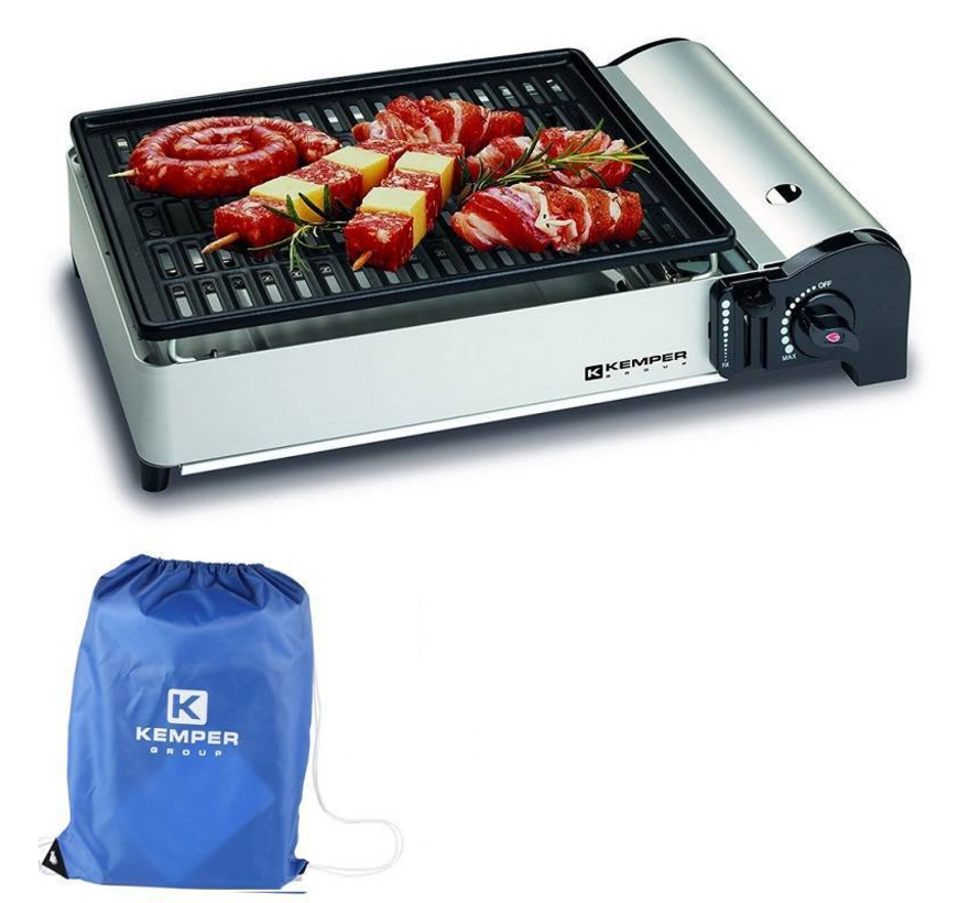 Portable smart gas barbecue Table barbecue Camping cooker incl carrying bag