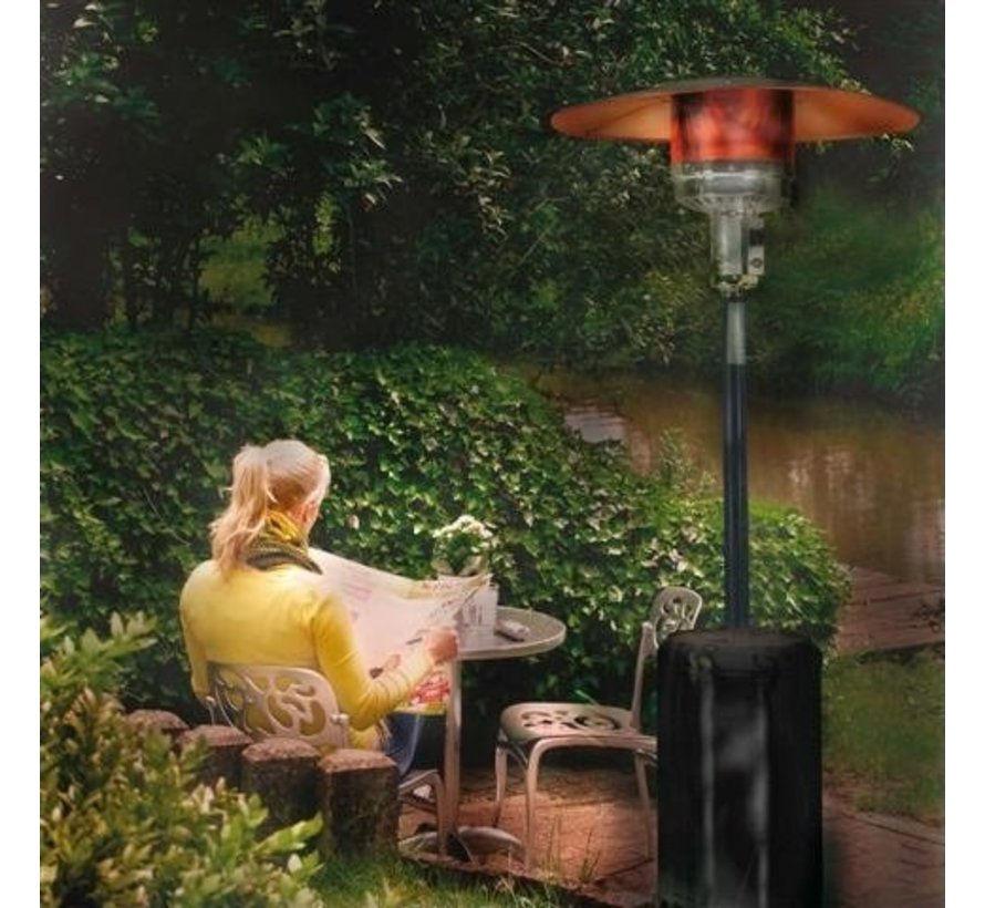 THG14000 patio heater - patio heater black - with protective cover