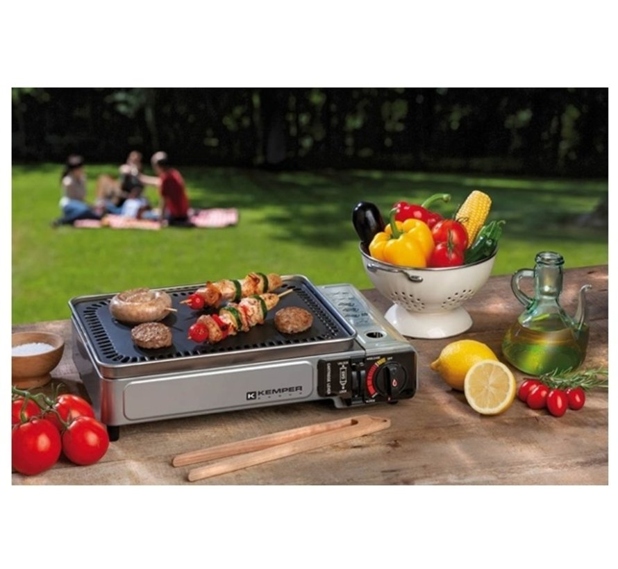 Smart grill - portable gas barbecue with 2 gas bottles