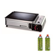 Kemper Smart grill - portable gas barbecue with 2 gas bottles