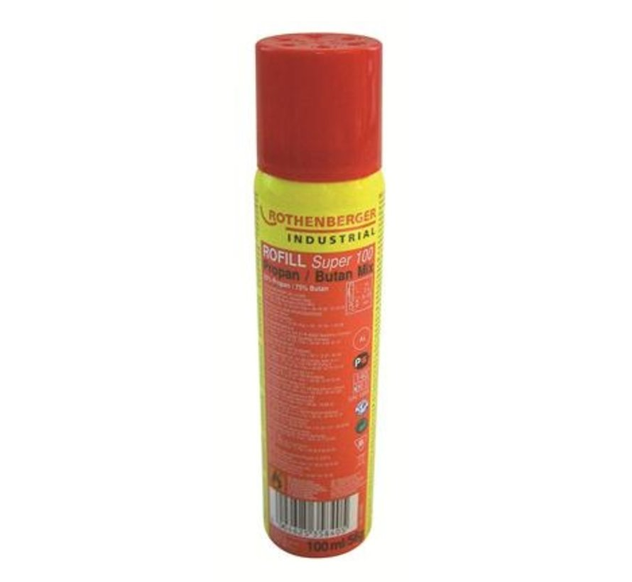 Pocket torch with piezo ignition - gas solder burner with refill
