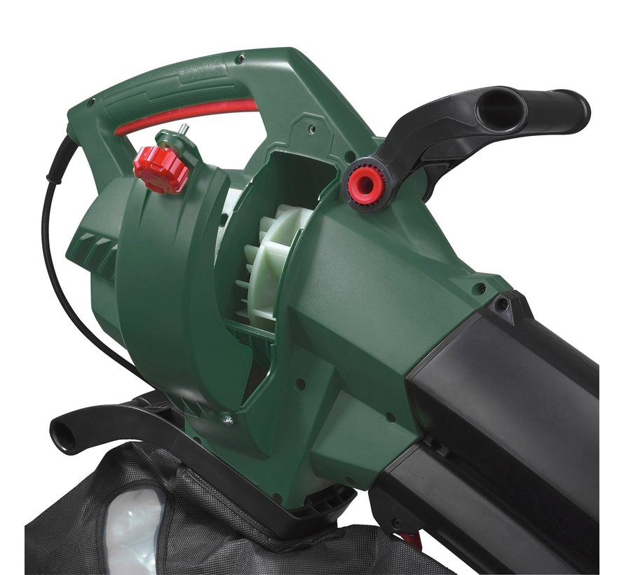 EBR3000 leaf blower - suction function - 3000 watt - collection bag 45 l - including 10 meter extension cord