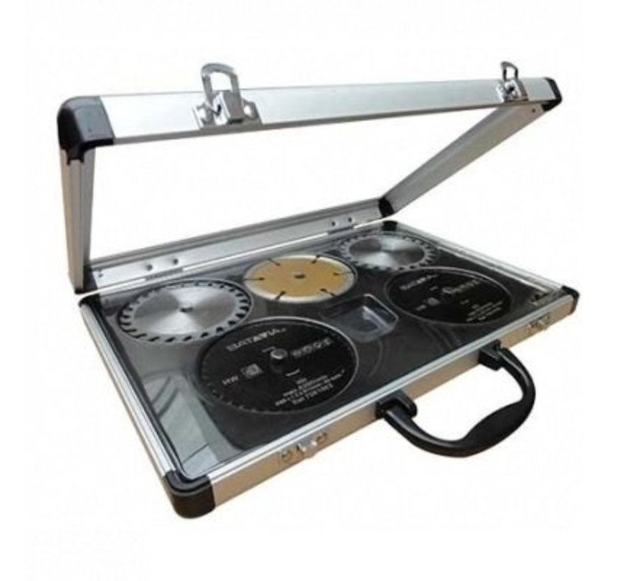 MAD MAXX zaagbladenset – 5 stuks - in aluminium koffer 7061058