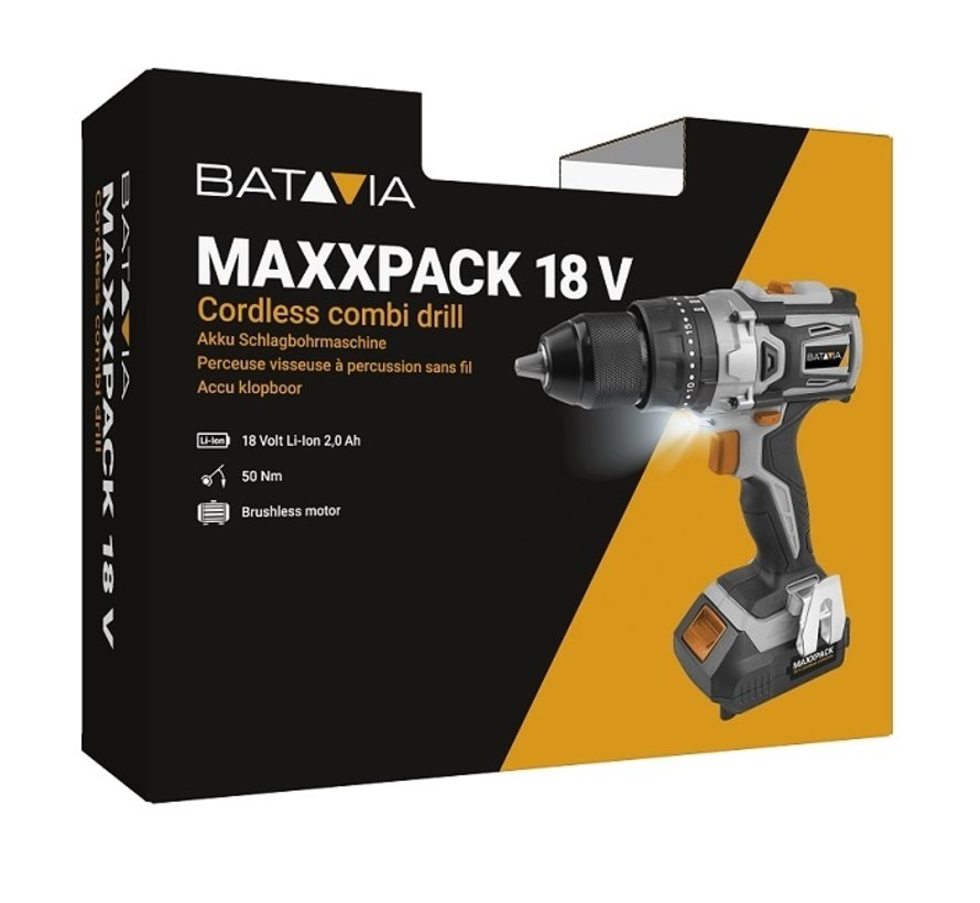 18V accu brushless klopboor | Maxxpack Collection