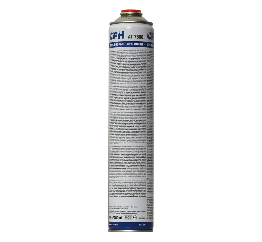 Bouteille de gaz AT 7500 XL 750 ml à raccord fileté