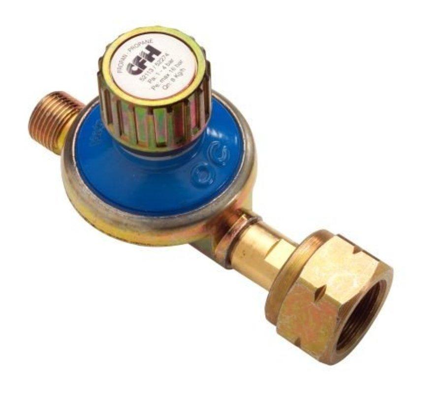 DR113 Regelbare gasdrukregelaar van 1 - 4 bar drukregelaar