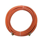 CFH Rubber gas hose with a length of 10 meters including 3/8 couplings