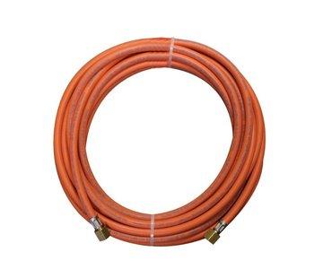 CFH Rubberen gasslang met lengte van 10 meter inclusief 3/8 koppelingen